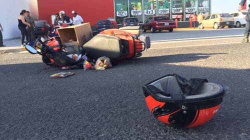 Imprudencia Provoca Accidente en Moto