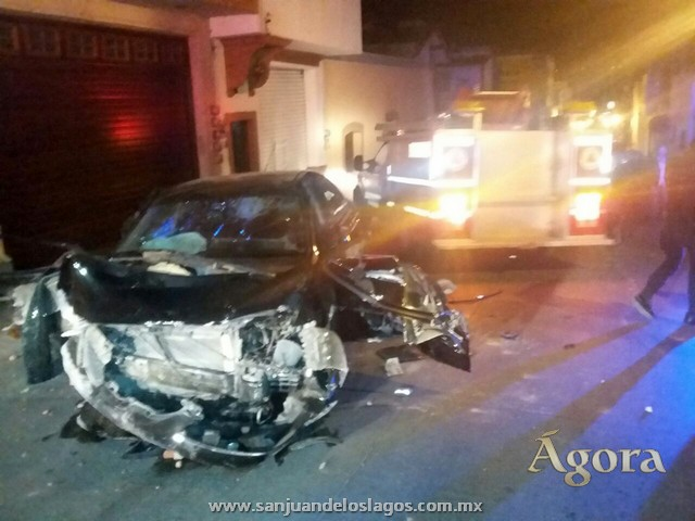 Tremendo accidente en la calle Benigno Romo